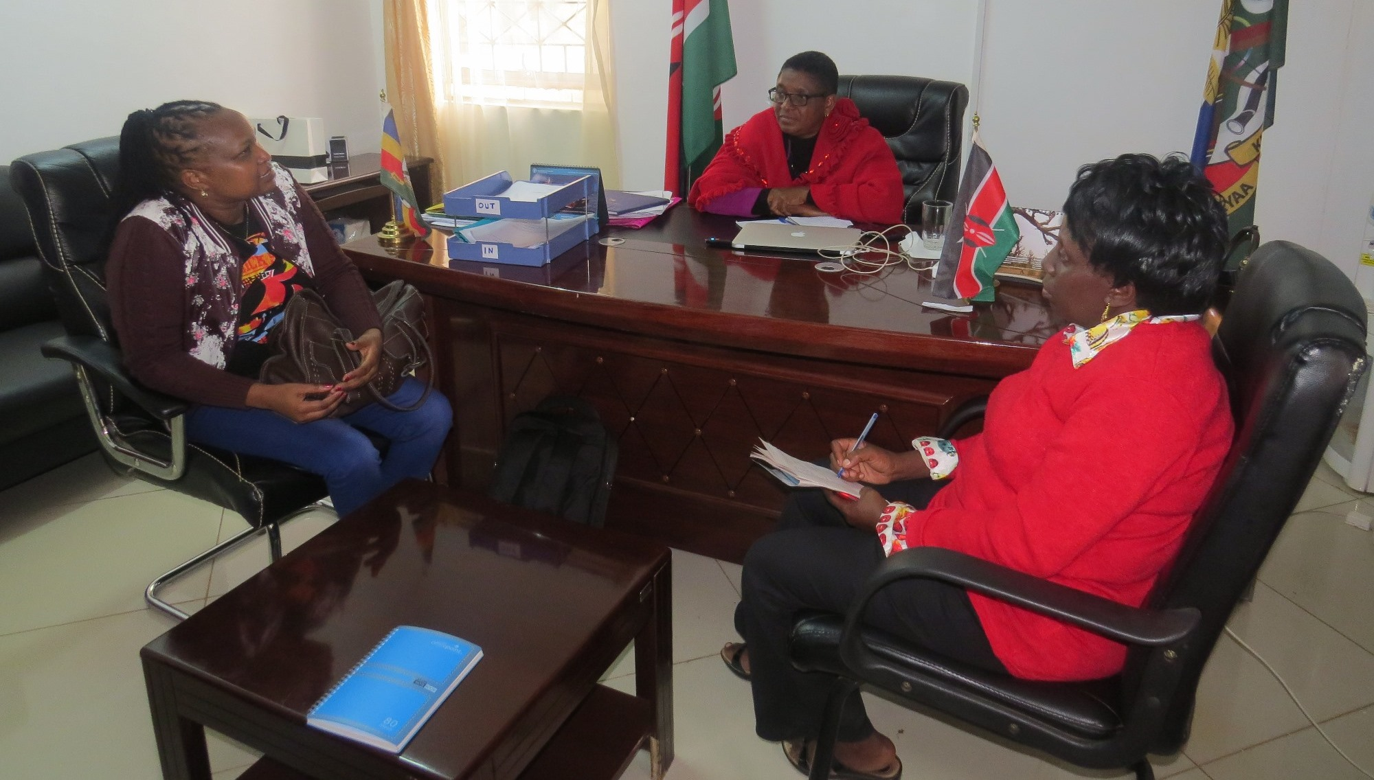 PELUM Kenya's Programme Operations Manager pay a courtesy call to the minister of Agriculture, Machakos County